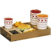 Dixie Food and Drink Kraft Carryout Tray, 6.75 x 16.875 x 2.5 inch -- 200 per case.