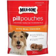 Milk Bone Pill Pouches with Real Chicken Dog Treats, 6 Ounce Bag -- 5 per case