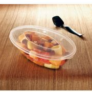 Party Tray Oval Salad Bowl Lid -- 50 per case.