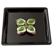 Conserve Black Square Tray, 16 x 16 inch -- 20 per case.