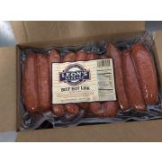 Leon's Sausage Smoked Beef Hot Link, 5 Pound -- 2 per case