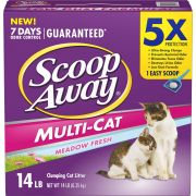 Scoop Away Meadow Fresh Scented Multi Cat Litter, 14 Pound -- 3 per case