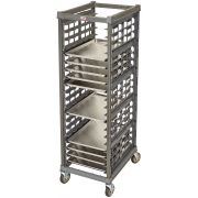 Cambro Camshelving Full Size Brushed Graphite Ultimate Sheet Pan Rack, 32.06 x 25.5 x 71.37 inch -- 1 each