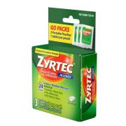Zyrtec Allergy Tablet, 3 count per pack -- 72 per case.