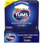 Tums Ultra Strength 1000 Assorted Berry Chewable Tablet, 12 count per pack -- 36 per case