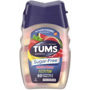 Tums Ultra Strength 750 Melon Berries Sugar Free Chewable Tablet, 80 count per pack -- 36 per case