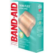 Band Aid Skin Flex Extra Large Adhesive Bandage, 7 count per pack -- 24 per case.