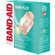 Band Aid Skin Flex Assorted Size Adhesive Bandage, 60 count per pack -- 24 per case.