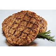 Strauss Grass Fed Cooked Seasoned Beef Patty, 3.2 Ounce -- 100 per case.