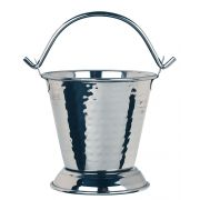 World Tableware Stainless Steel Hammered Pail with Handle, 13 Ounce -- 12 per case.