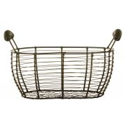 World Tableware Country Wire Bread Basket with Handles, 11.5 x 6.25 inch -- 12 per case.