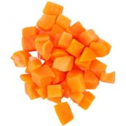 Commodity Vegetables 3/8 inch Diced Carrot, 20 Pound -- 1 each.