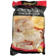Frozen Seafood 71/90 Peeled and Deveined Tail Off Raw Shrimp, 2 Pound -- 5 per case.