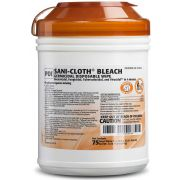 Sani Professional Sani Cloth Bleach Germicidal Disposable Wipe - Large Canister, 75 count per pack -- 12 per case.