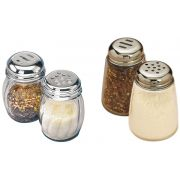 American Metalcraft Glass Cheese Shaker with Stainless Steel Top, 6 Ounce -- 36 per case