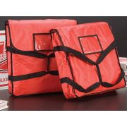 American Metalcraft Heavy Nylon Red with Black Deluxe Pizza Delivery Bag, 18 x 18 x 5 inch -- 10 per case