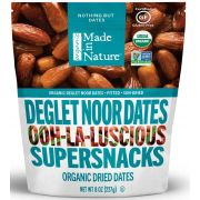 Made in Nature Organic Dried Deglet Noor Dates, 8 Ounce -- 6 per case.
