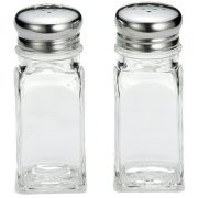 Tablecraft Square Glass Salt and Pepper Shaker, 2 Ounce -- 72 per case