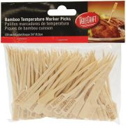 Tablecraft Medium Bamboo Paddle Pick, 3.5 inch - 100 count per pack -- 12 packs per case