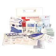 Impact Products White 25 Person First Aid Kit, 9 inch Width x 8 inch Height x 2 1/2 inch Depth -- 10 per case.
