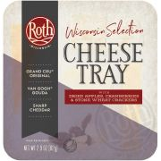 Roth Wisconsin Selection Cheese Tray, 2.9 Ounce -- 12 per case.