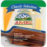 Alp and Dell Classic Selection Cheese Tray, 2.9 Ounce -- 18 per case.