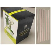 Goldmax Red Stripe Unwrapped Sip and Stir Straw, 5.5 inch -- 10000 per case.
