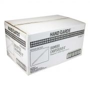 Handgards White Envelope Disposable Bamboo Chopstick, 9 inch -- 1000 per case.
