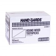 Handgards Unwrapped Round Disposable Wood Toothpick -- 12000 per case.