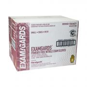 Handgards ExamGards Blue Small Disposable Nitrile Gloves -- 1000 per case.