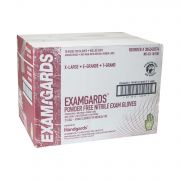 Handgards ExamGards Blue Extra Large Disposable Nitrile Gloves -- 1000 per case.