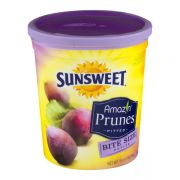 Sunsweet Premium Bite Size Pitted Prunes, 16 Ounce Canister -- 6 per case.