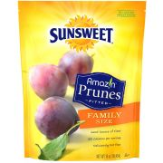 Sunsweet Pitted Prunes, 16 Ounce Pouch -- 12 per case.