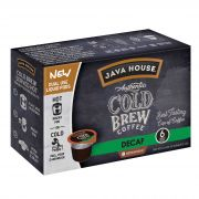 Java House Colombian Decaf Authentic Cold Brew Coffee Pod, 1.35 Ounce -- 6 per case.