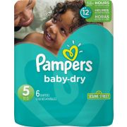 Pampers Size 5 Baby Dry Diaper -- 48 per case.