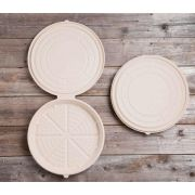 World Centric Unbleached Plant Fiber Round Deep Dish Pizza Clamshell, 12 inch -- 100 per case.