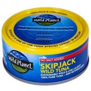 Wild Planet Foods Skipjack No Salt Wild Tuna, 5 Ounce -- 12 per case
