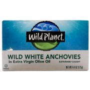 Wild Planet Foods Wild White Anchovies in Extra Virgin Olive Oil, 4.4 Ounce -- 12 per case