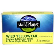 Wild Planet Foods Skinless Boneless Wild Yellowtail Fillets in Extra Virgin Olive Oil, 4.375 Ounce -- 12 per case