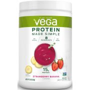 Vega Protein Made Simple Strawberry Banana Flavored Drink Mix, 9.3 Ounce -- 12 per case