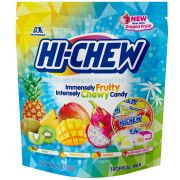 Hi Chew Tropical Mix Chewy Candy, 12.7 Ounce Stand Up Bag -- 4 per case.