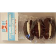 Divvies Brownie Sandwich Cookie with Vanilla, 2 count per pack -- 12 per case.