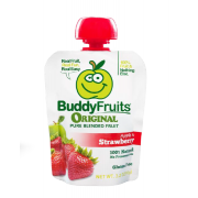 Buddy Fruits Originals Apple and Strawberry Fruit Blend, 3.2 Ounce -- 18 per case.