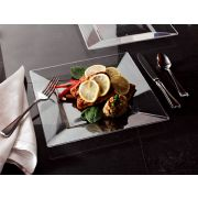 Squares Clear Dinner Plate, 10.75 inch -- 120 per case.
