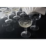 Resposables Two Piece Old Fashioned Clear Champagne Glass, 4 Ounce -- 360 per case.