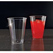 Yoshi Ware Emi Clear Ware Extra Heavy Weight Plastic Tumbler, 7 Ounce - 20 per pack -- 25 packs per case.