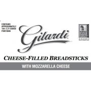 Gilardi 6 Cheese Filled Breadsticks, 2.21 Ounce -- 144 per case.