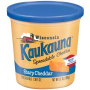 Kaukauna Sharp Cheddar Spreadable Cheese Cup, 6.5 Ounce -- 12 per case.