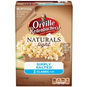 Orville Redenbachers Gourmet Naturals Simply Salted Microwavable Popcorn, 8.07 Ounce -- 12 per case