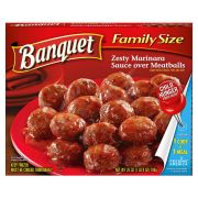 Banquet Zesty Marinara Sauce Over Meatball, 25 Ounce -- 6 per case.